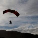Motorized parachute at Panamint Springs